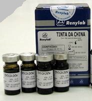 Corante Tinta da China 10%  10 frascos de 6 ml