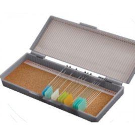 Caixa  Plástica Porta 50 Lâminas de Microscopia