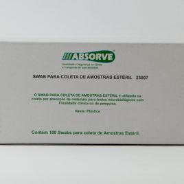 SWAB PLASTICO ESTÉRIL COLETA AMOSTRA COM 100 PEÇAS