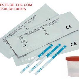10  Kit Teste de Droga Maconha THC  com coletor de urina