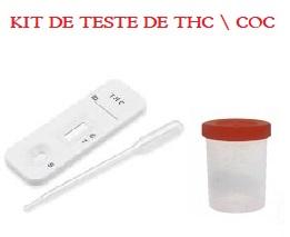 05 Kits para teste de 2 substâncias – COC+THC com coletor de urina